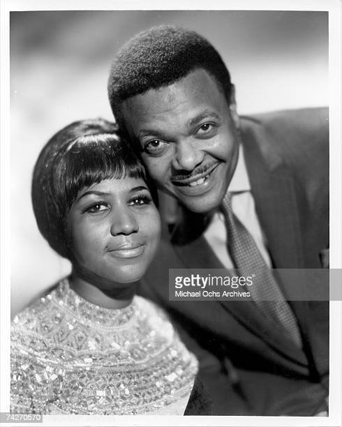 Singer Aretha Franklin poses for a portrait with her husband and manager Ted White circa 1961 in New york City New York