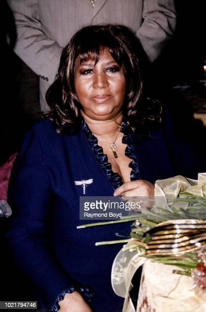 Singer Aretha Franklin poses for photos during 'It's All The Way Live With Levi 50 Years And Still Going' a tribute to Levi Stubbs Of The Four Tops...