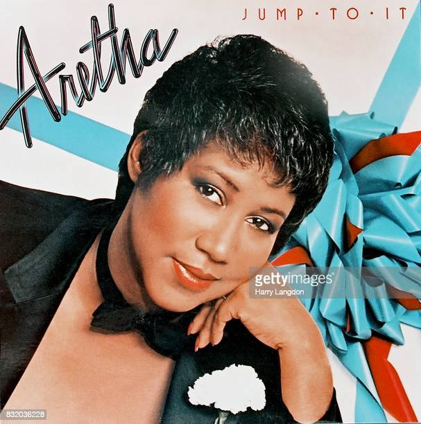 Singer Aretha Franklin poses for the cover of her album 'Jump To It' in 1982 in Los Angeles California