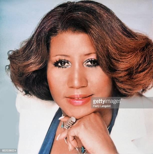 Singer Aretha Franklin poses for the cover of the album 'Aretha' in 1980 in Los Angeles California