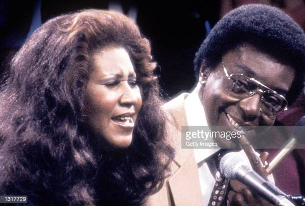 Singer Aretha Franklin with show host and producer Don Cornelius Franklin was one of many entertainers who performed on Soul Train in the 1970''s...