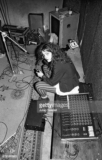 Singer Ari Up of British punk group The Slits in the basement at 6 Surrendale Place Maida Vale London 1977