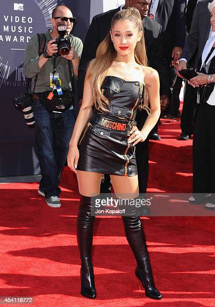Singer Ariana Grande arrives at the 2014 MTV Video Music Awards at The Forum on August 24 2014 in Inglewood California