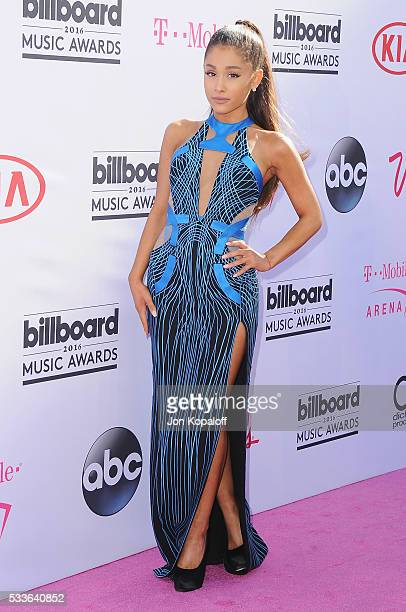 Singer Ariana Grande arrives at the 2016 Billboard Music Awards at TMobile Arena on May 22 2016 in Las Vegas Nevada