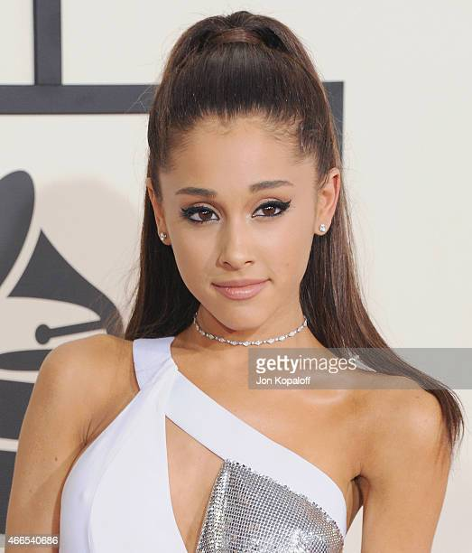 Singer Ariana Grande arrives at the 57th GRAMMY Awards at Staples Center on February 8, 2015 in Los Angeles, California.