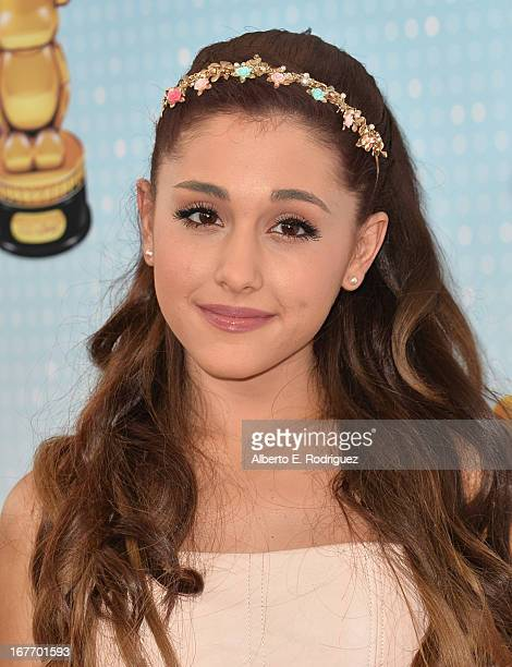Singer Ariana Grande arrives to the 2013 Radio Disney Music Awards at Nokia Theatre LA Live on April 27 2013 in Los Angeles California