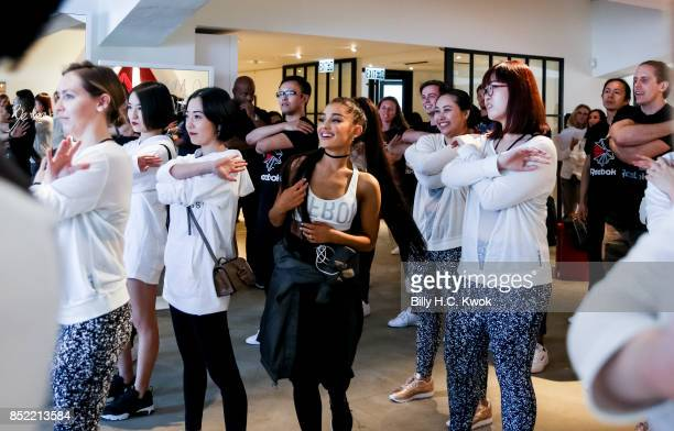 Singer Ariana Grande attends An Inspiring 'Day in the Life' of Ariana Grande to celebrate new partnership with Reebok on September 20 2017 in Hong...