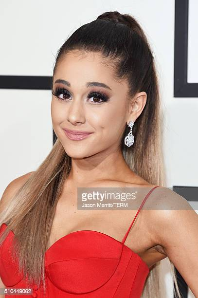 Singer Ariana Grande attends The 58th GRAMMY Awards at Staples Center on February 15, 2016 in Los Angeles, California.