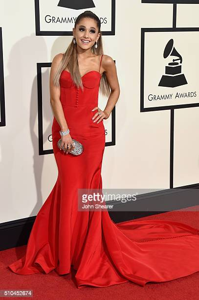 Singer Ariana Grande attends The 58th GRAMMY Awards at Staples Center on February 15 2016 in Los Angeles California