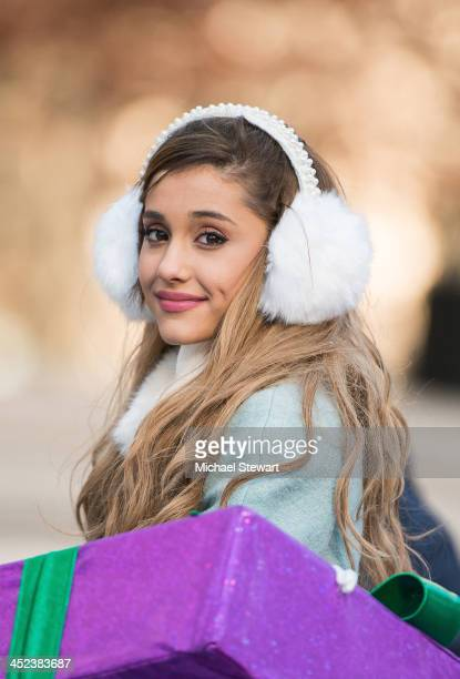 Singer Ariana Grande attends the 87th annual Macy's Thanksgiving Day parade on November 28 2013 in New York City