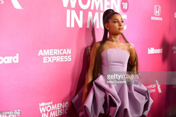 Singer Ariana Grande attends the Billboard Women In Music 2018 on December 06, 2018 in New York City.
