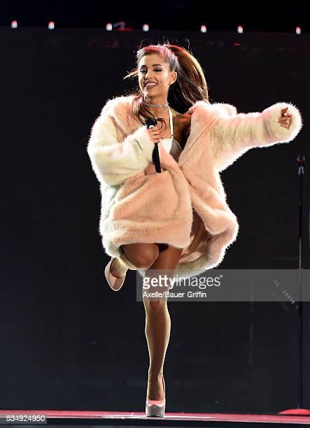 Singer Ariana Grande performs at 1027 KIIS FM's Wango Tango 2016 at StubHub Center on May 14 2016 in Carson California