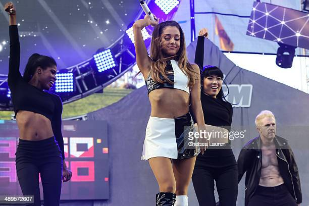 Singer Ariana Grande performs at 1027 KIIS FM's Wango Tango at StubHub Center on May 10 2014 in Los Angeles California