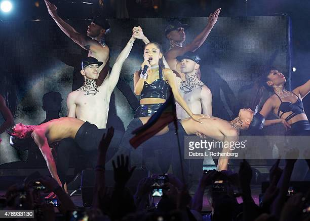 Singer Ariana Grande performs at the 27th annual NYC Pride Dance On The Pier at Pier 26 on June 28 2015 in New York City