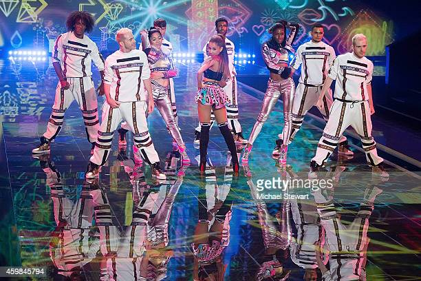 Singer Ariana Grande performs at the annual Victoria's Secret fashion show at Earls Court on December 2 2014 in London England