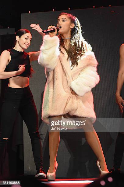 Singer Ariana Grande performs on stage at KIIS FM's Wango Tango 2016 at StubHub Center on May 14 2016 in Carson California