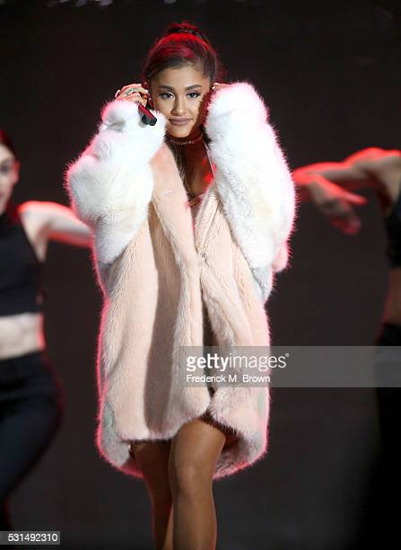 Singer Ariana Grande performs on stage during 1027 KIIS FM's 2016 Wango Tango at StubHub Center on May 14 2016 in Carson California