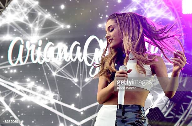 Singer Ariana Grande performs onstage during 1027 KIIS FM's 2014 Wango Tango at StubHub Center on May 10 2014 in Los Angeles California