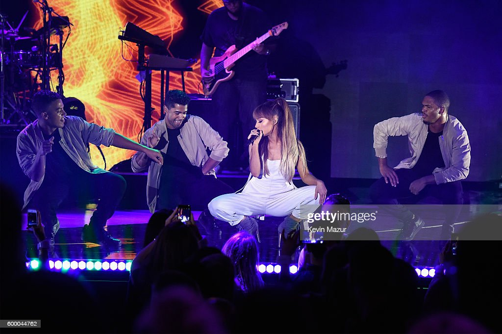 Singer Ariana Grande performs onstage during Macy's Presents Fashion's Front Row on September 7, 2016 in New York City.