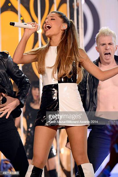 Singer Ariana Grande performs onstage during the 2014 Billboard Music Awards at the MGM Grand Garden Arena on May 18 2014 in Las Vegas Nevada