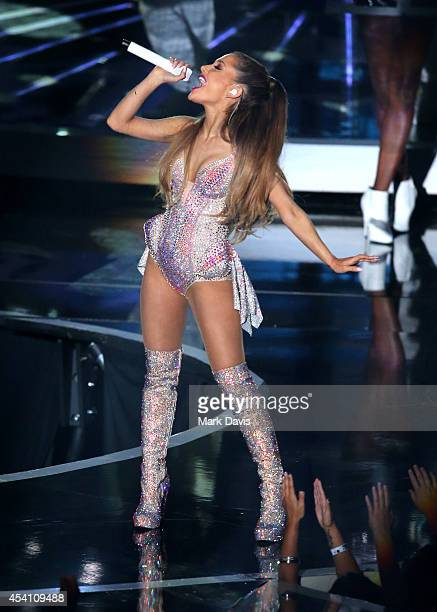 Singer Ariana Grande performs onstage during the 2014 MTV Video Music Awards at The Forum on August 24 2014 in Inglewood California