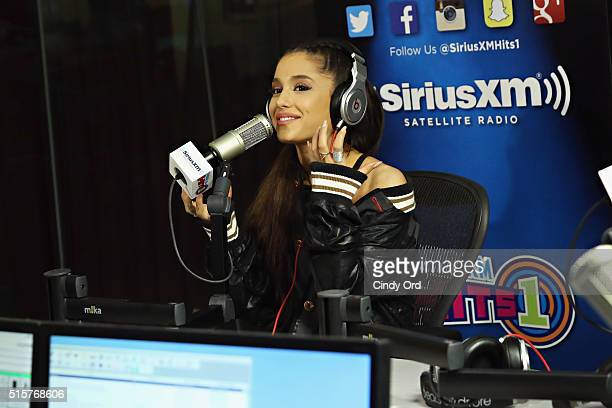 Singer Ariana Grande visits the SiriusXM Studio on March 14 2016 in New York City