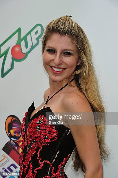 Singer Ariel Rose Attends The Latin Grammy Street Parties At Inwood Hill Park On September 25