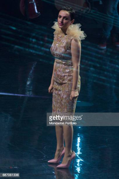 Singer Arisa at the final live show of series 10 of X Factor at Mediolanum Forum of Assago Assago Italy 15th December 2016