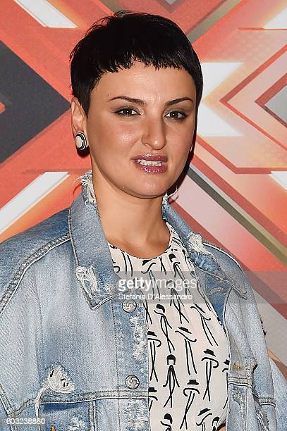 Singer Arisa attends the press conference for 'X Factor X' on September 12 2016 in Milan Italy
