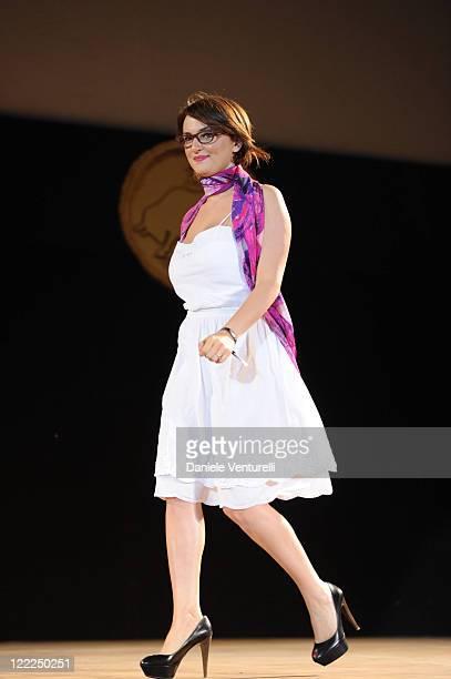 Singer Arisa attends the Taormina Arte Award during the Taormina Film Fest 2010 on June 16 2010 in Taormina Italy