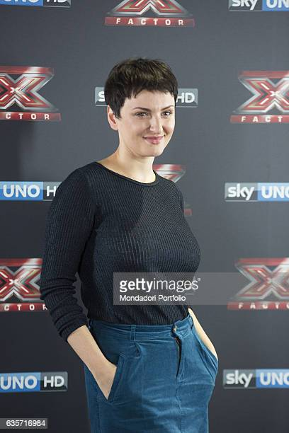 Singer Arisa during the press conference of presentation of the first live episode of the talent show X Factor Milan Italy 26th October 2016