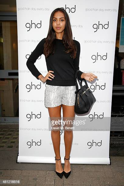 Singer Arlissa attends ghd's exhibition of iconic beauty musthaves to celebrate the launch of ghd aura a groundbreaking drying and styling tool on...