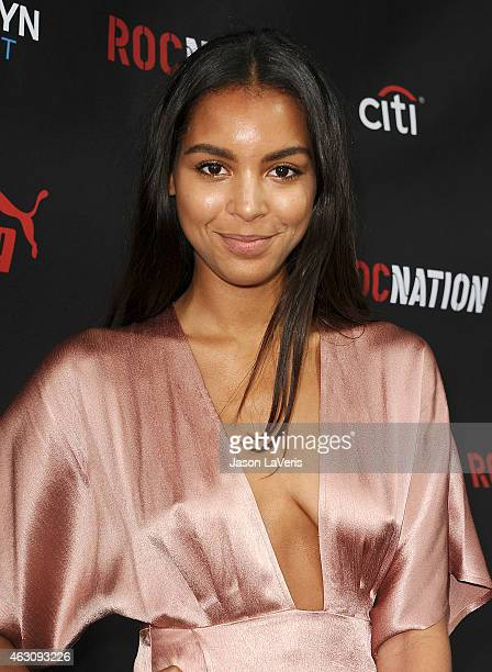 Singer Arlissa attends the Roc Nation Grammy brunch on February 7 2015 in Beverly Hills California