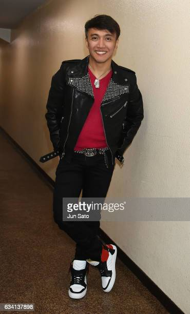Singer Arnel Pineda of Journey poses for a photograph backstage at Nippon Budokan arena on February 7 2017 in Tokyo Japan