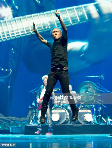 Singer Arnel Pineda of the band Journey is seen at Prudential Center on June 15 2018 in Newark New Jersey