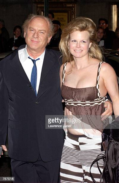 Singer Art Garfunkel and his wife Kim attend the premiere of the Graduate April 4 2002 in New York City The play features actors Kathleen Turner...