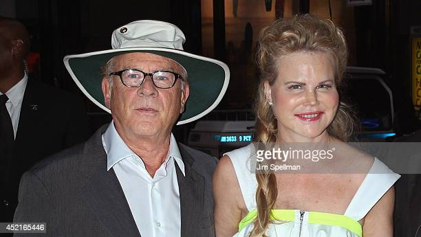 Singer Art Garfunkel and wife Kim Garfunkel attend the Sex Tape screening at Regal Union Square on July 14 2014 in New York City