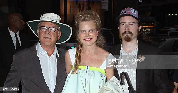 Singer Art Garfunkel wife Kim Garfunkel and son attend the Sex Tape screening at Regal Union Square on July 14 2014 in New York City