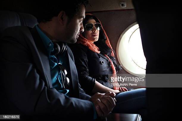 Singer Aryana Sayeed after the concert aboard an Antonov flying back to Kabul on August 15 2013 Afghan singer Aryana Sayeed attends a concert of...