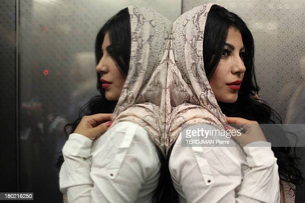Singer Aryana Sayeed poses in ahotel lift on August 17 2013 in Kabul Afghanistan Afghan singer Aryana Sayeed attends a concert of young Afghans...