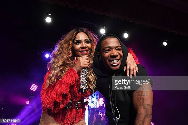 Singer Ashanti and rapper Ja Rule perform in concert at Buckhead Theatre on September 9 2016 in Atlanta Georgia
