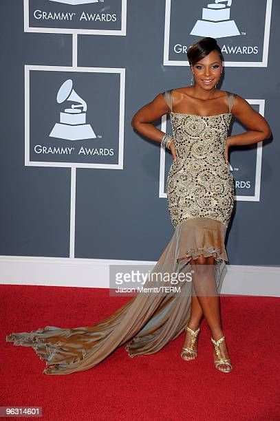 Singer Ashanti arrives at the 52nd Annual GRAMMY Awards held at Staples Center on January 31, 2010 in Los Angeles, California.