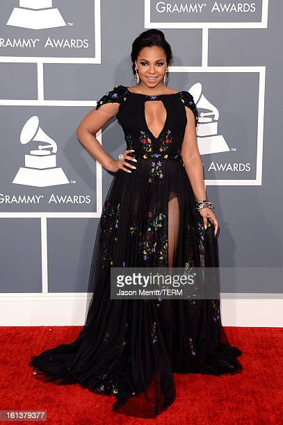 b59458744398 Singer Ashanti arrives at the 55th Annual GRAMMY Awards at Staples Center  on February 10 2013