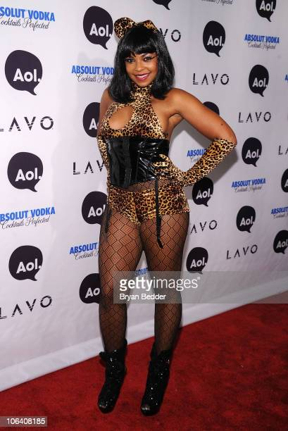 Singer Ashanti attends Heidi Klum's 2010 Halloween Party at Lavo on October 31 2010 in New York City