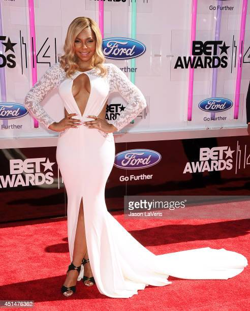 Singer Ashanti attends the 2014 BET Awards at Nokia Plaza LA LIVE on June 29 2014 in Los Angeles California