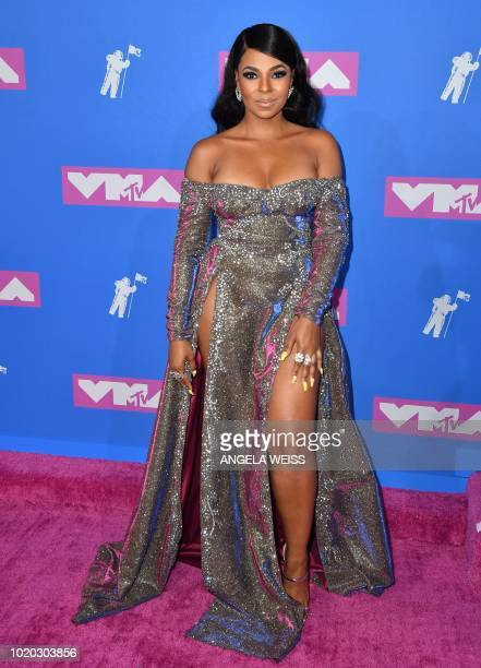 Singer Ashanti attends the 2018 MTV Video Music Awards at Radio City Music Hall on August 20, 2018 in New York City.