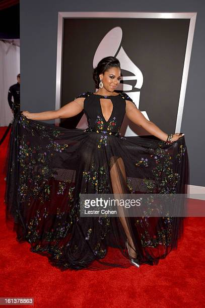 Singer Ashanti attends the 55th Annual GRAMMY Awards at STAPLES Center on February 10, 2013 in Los Angeles, California.