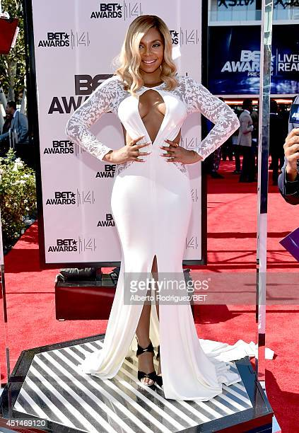Singer Ashanti attends the Pantene Style Stage during BET AWARDS '14 at Nokia Theatre LA LIVE on June 29 2014 in Los Angeles California