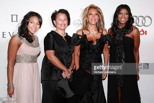 Singer Ashanti CEO of BET Networks Debra Lee Founder of GP Foundation Denise Rich and singer Natalie Cole attend the 2007 GP Foundation's Angel Ball...