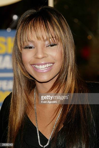 Singer Ashanti guest hosts for a day during a live broadcast on Power 1051 to celebrate her new album Chapter II at Planet Hollywood Times Square...